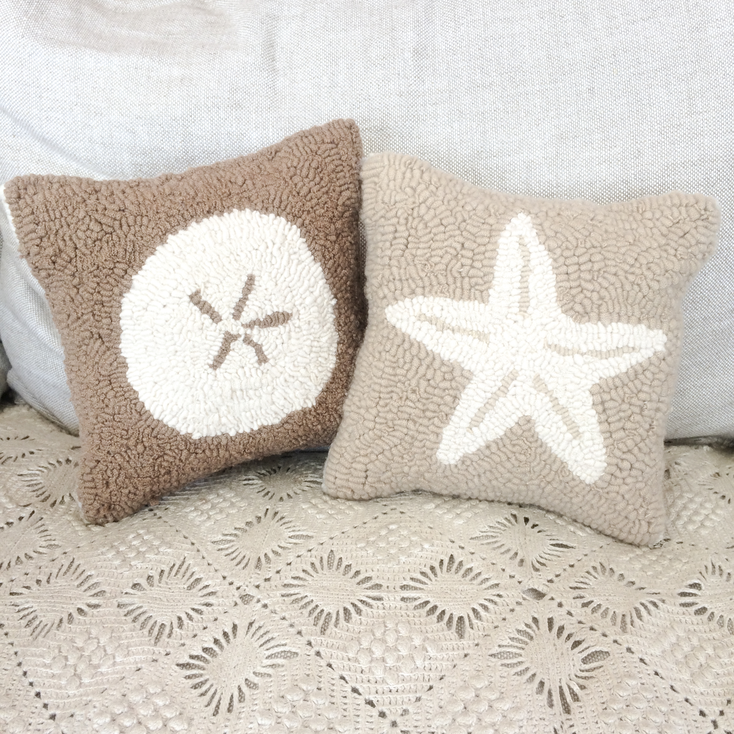 and coastal decorative beach v shell pillows pillow scene turquoise starfish p square