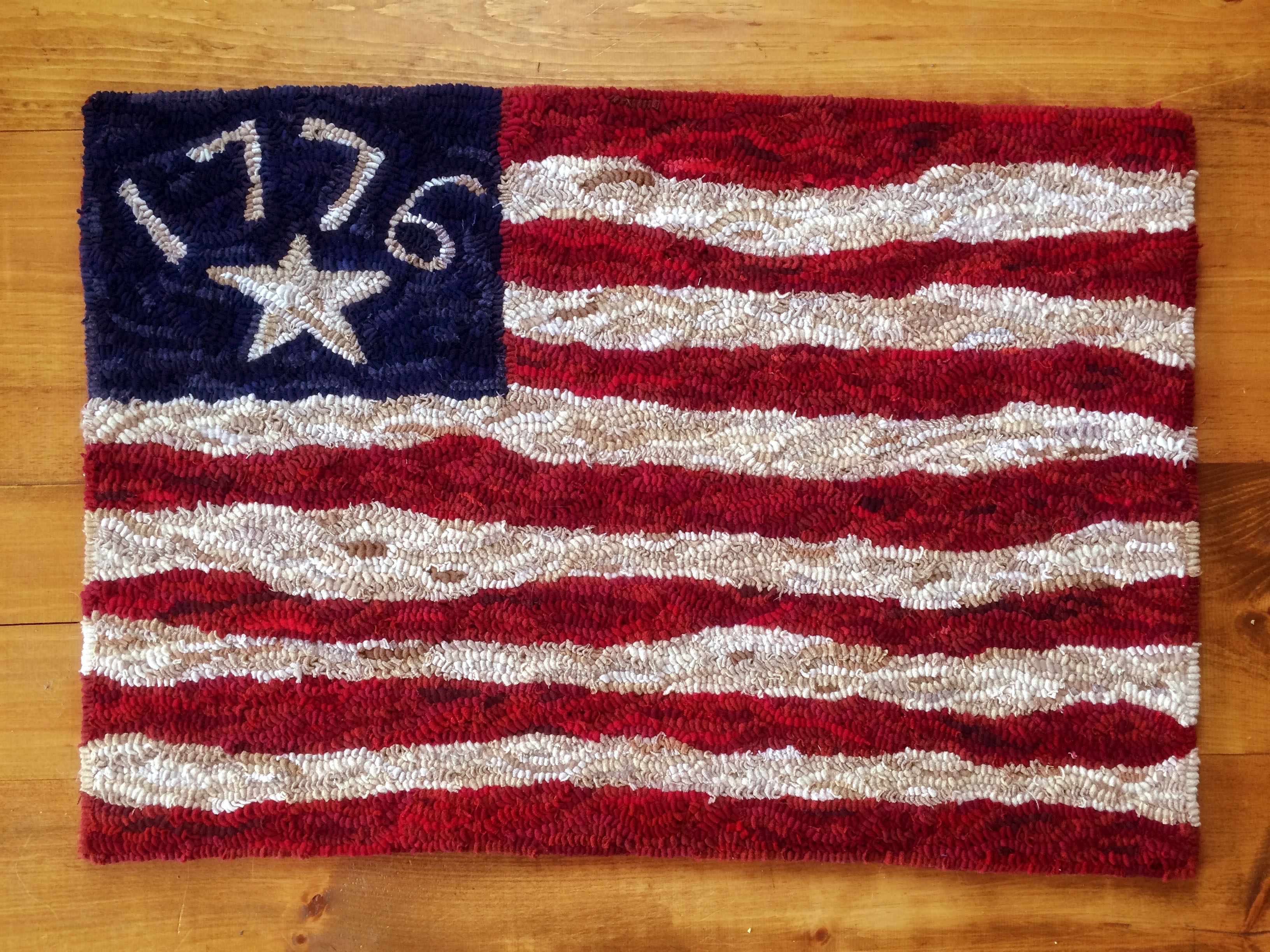 1776 American Flag Primitive Rug Hooking Pattern Jess